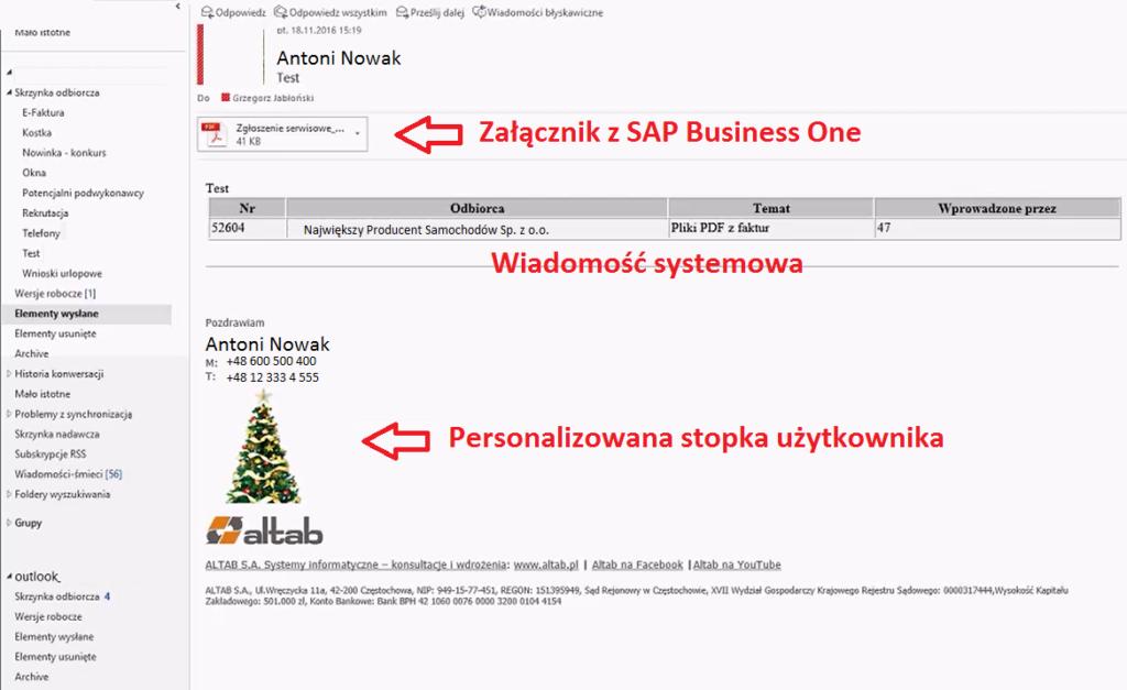 stopka personalizowana Altoffice365