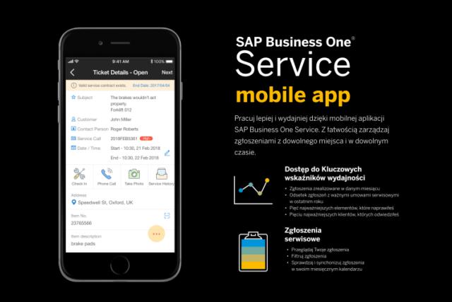 Mobilna aplikacja SAP Business One Service