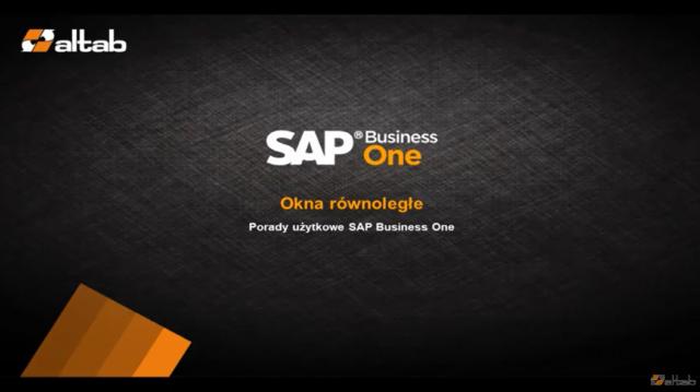 Praca z oknami równoległymi w SAP Business One