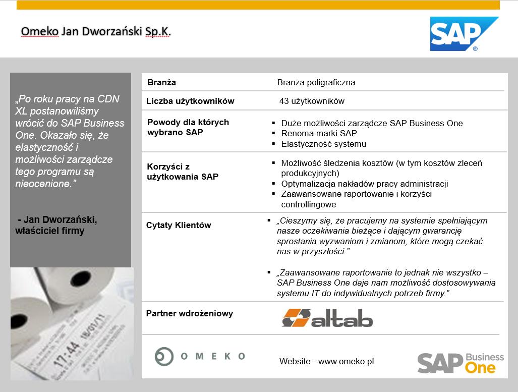 Szerokie możliwości zarządcze z SAP Business One