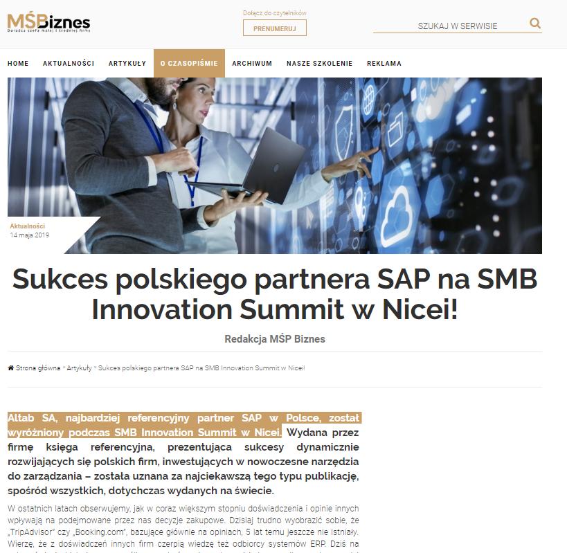 SMB Innovation Nicea - msp biznes
