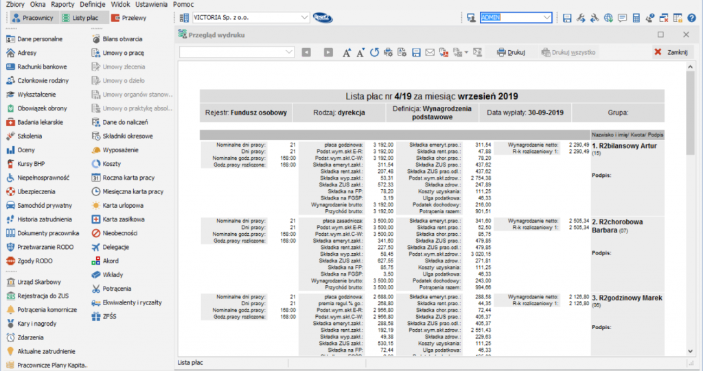 Kadry i Płace w SAP Business One