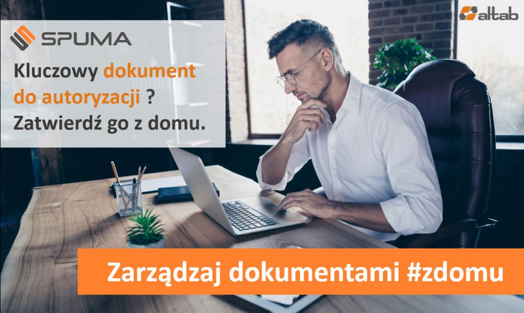Dokument do autoryzacji - elektroniczny obieg dokumentów - SPUMA - zdalna autoryzacja dokumentów