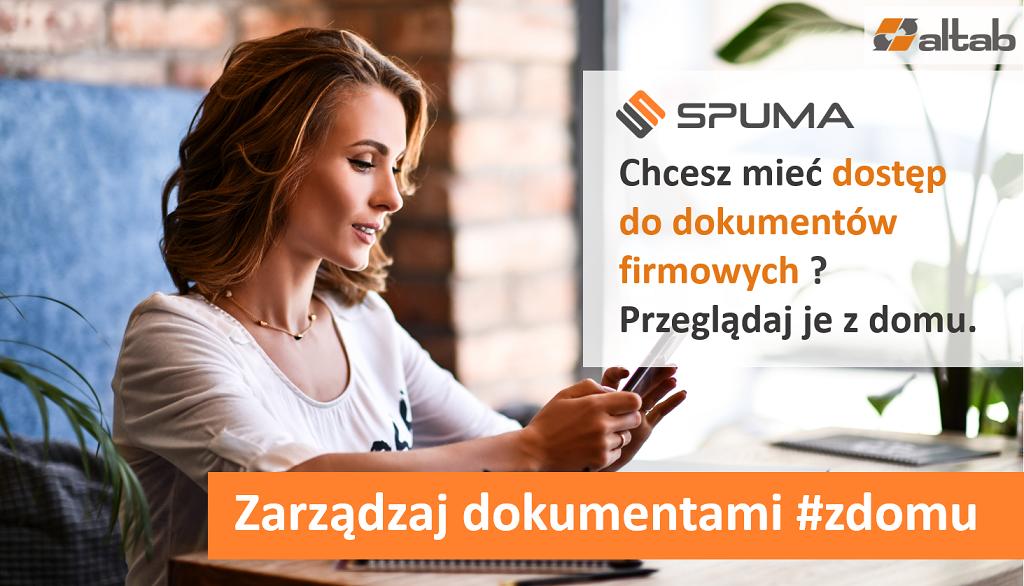 elektroniczny obieg dokumentów SPUMA - dostęp do dokumentów firmowych z domu - #zdomu