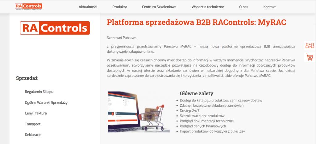Platforma B2B - AltB2B - platforma sprzedażowa myRAC