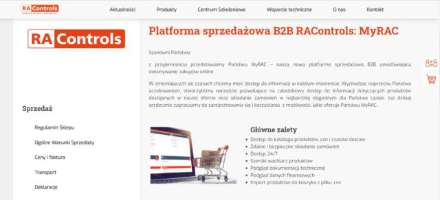Platforma B2B w branży automatyki przemysłowej