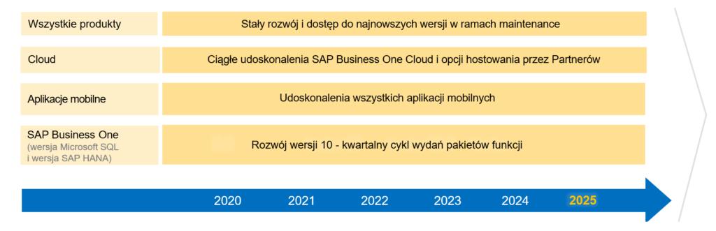 Mapa rozwoju SAP Business One 2021